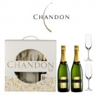 2 Botellas Chandon Brut + 2 Copas