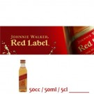 Johnnie Walker Red miniatura 50cc